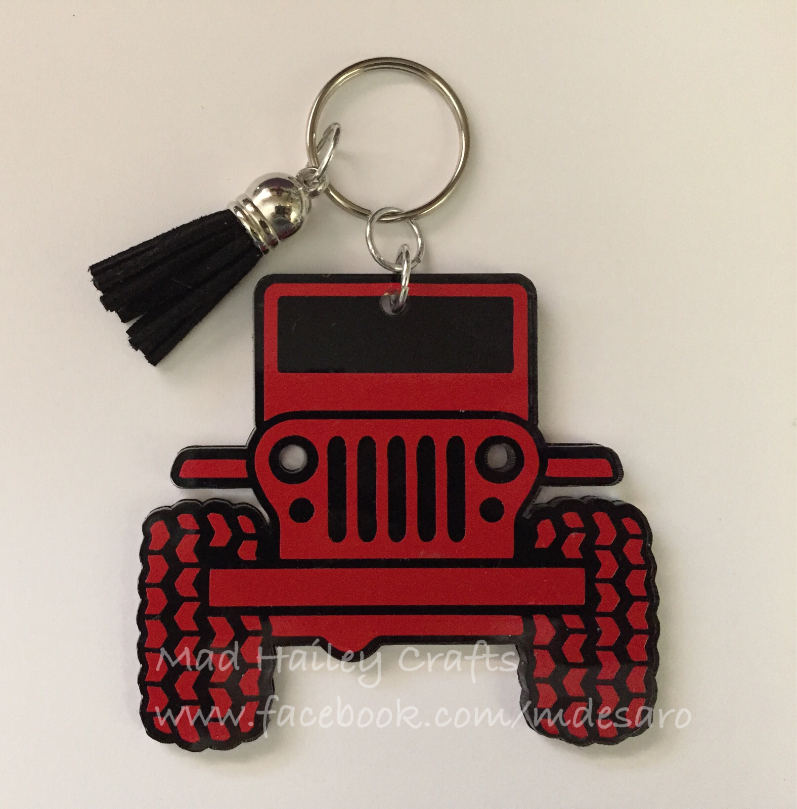Jeep Keychain Jeep Acrylic Keychain Blank And Tassel From 3rd