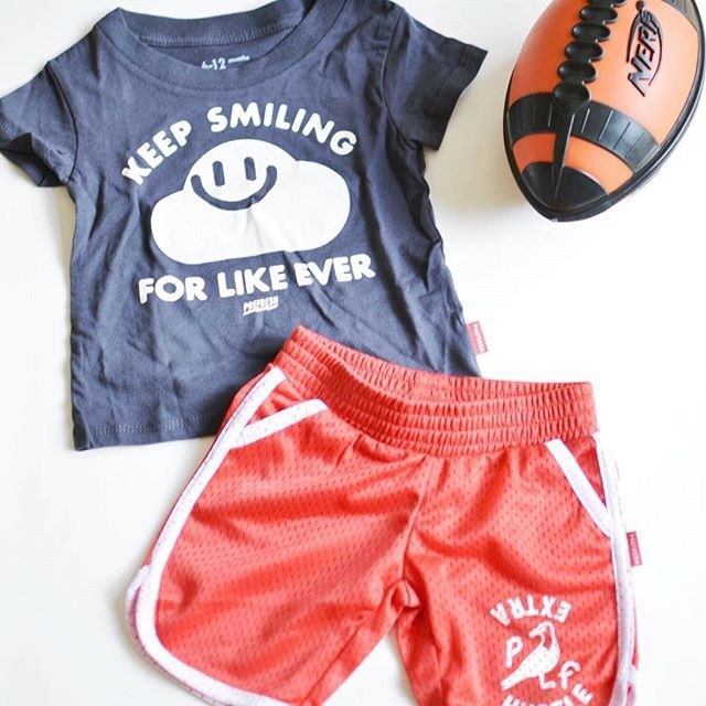 There's no better game face than a smiling face. Prefresh T-shirt and shorts from Blockthreads.