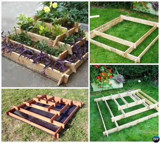 Pyramid Tower Raised Garden Beds, Raised Garden Bed Planter Diy