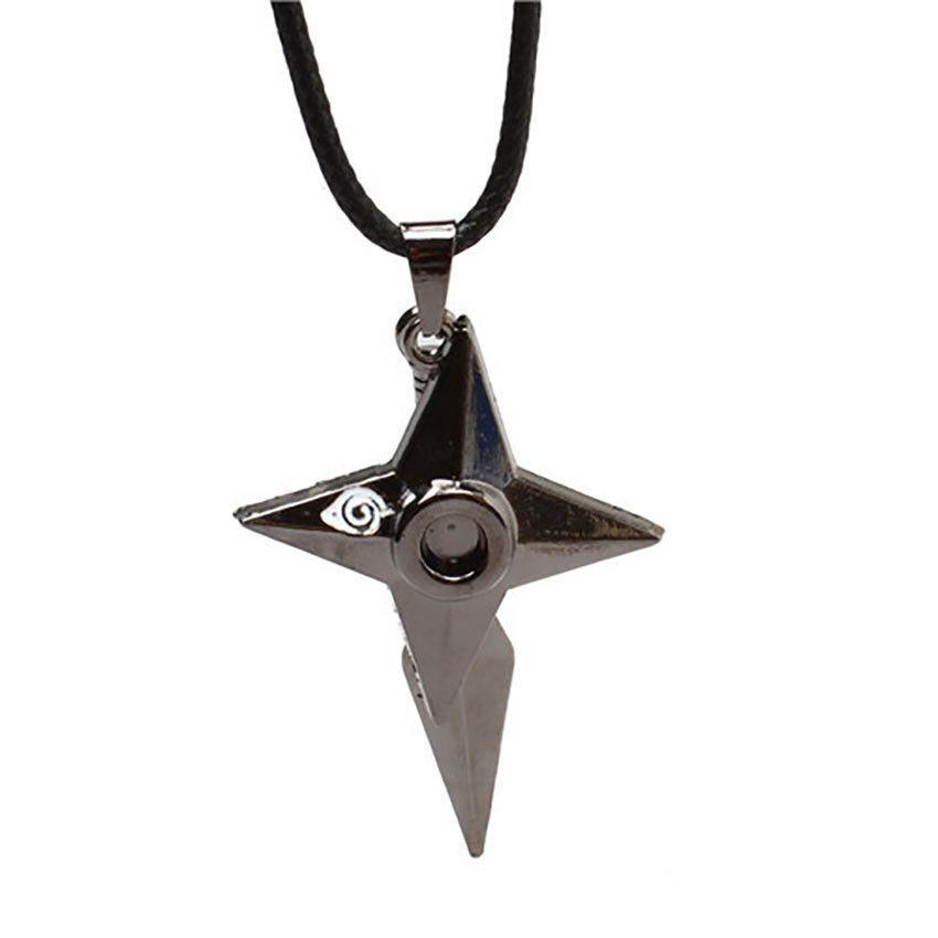 Fashion Anime Naruto Shuriken Kunai Pendant Metal Necklace Cosplay Gift Cosplay Gift Metal Necklaces Metal Jewelry