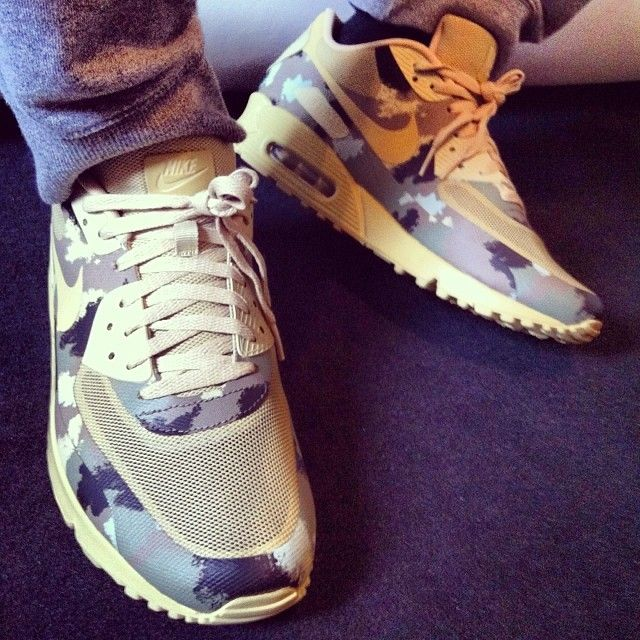 super popular 6a6d6 c9711 Nike Air Max 90 Hyperfuse Country Camo  sneakers on feet