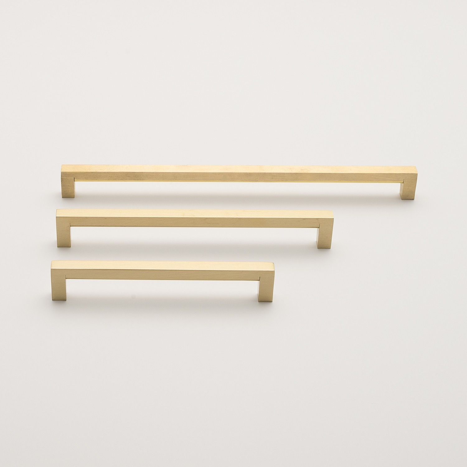 Edgecliff pull natural brass brass drawer pulls solid for Brass hardware for kitchen cabinets