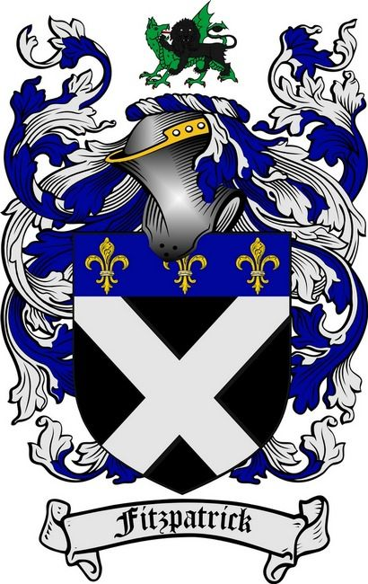Fitzpatrick Family Crest Coat Of Arms Gifts At 4crests