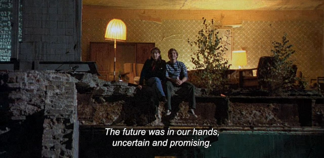 "― Good Bye Lenin! (2003) ""The future was in our hands, uncertain and promising."""