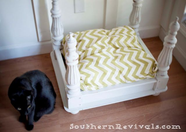 The Story of a Broken End Table An End Table to Pet Bed Revival - Southern Revivals