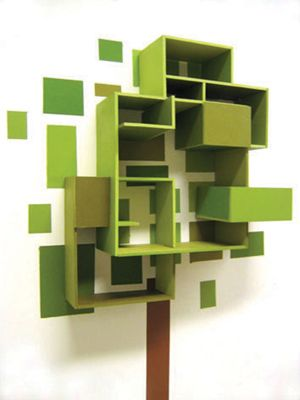 Awesome Green Tree Bookshelf