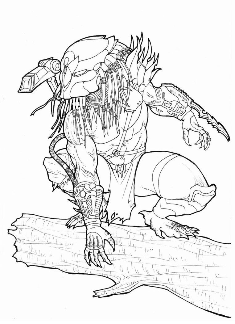 Owl predator by bender18 by ronniesolano on deviantart for Xenomorph coloring pages