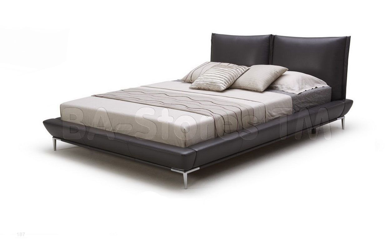 Vig furniture gamma modern platform queen bedroom collection with air - Super Modern Leather Queen Bed Cheap Furniture Queen Beds And Warehouse