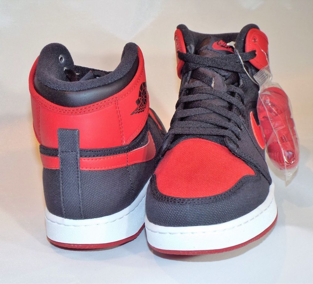 c203934da39 Nike Air Jordan 1 KO High Bred OG Blk Varsity Red White 638471 001 Mens Sz  12…