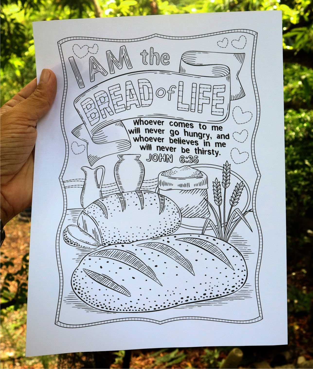 I Am The Bread Of Life Coloring Page Bread Life Bible
