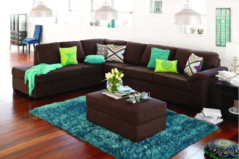 Galaxy Corner Chaise Sofa Bed and Ottoman Harvey Norman