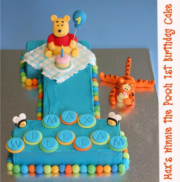 Winnie the Pooh Number 1 by Kat's Cakes, via Flickr