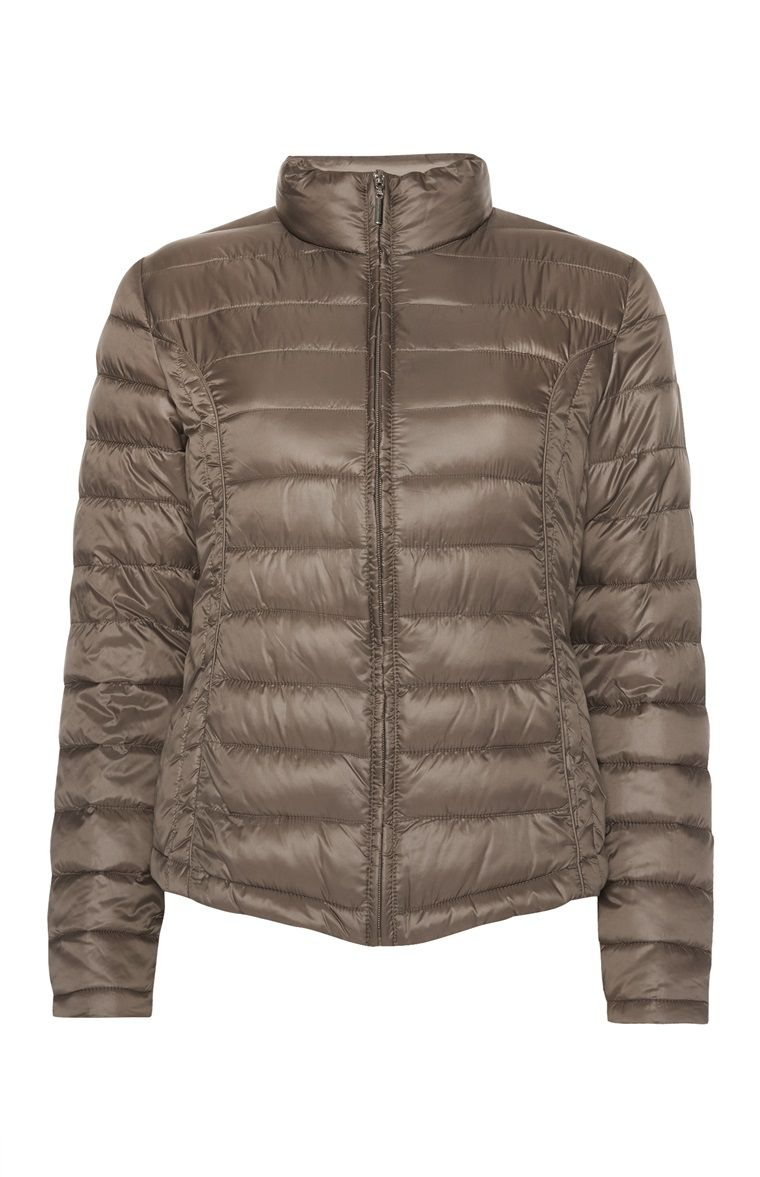 Taupe Super Lightweight Puffa Jacket Primark Jackets Cool Sweaters [ 1177 x 760 Pixel ]