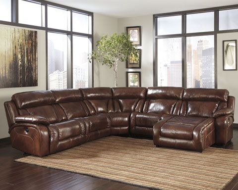 Ashley Furniture Elemen Sectional Leather Furniture Made With