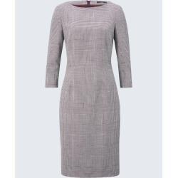 Business-Kleid in Bordeaux-Weiß gemustert windsorwindsor #eleganthalloweendecor