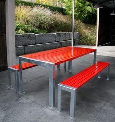 Metal Outdoor Furniture From Metall Werk Zurich, Design From Samuel Fausch