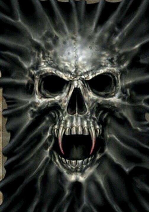 Vampire Skull Skulls Drawing Vampire Skull Skull Artwork