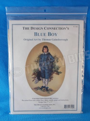 Design Connection Counted Cross Stitch Kit Blue Boy Thomas