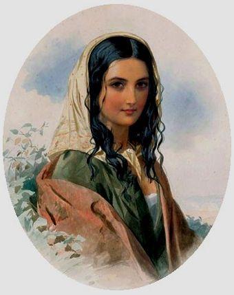 Gypsy Woman Painting gypsy woman portrait p...