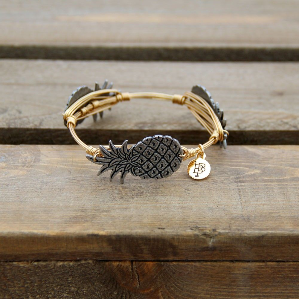 *New* Bourbon and Boweties Classic Collection: Pewter Pineapple Bangle - Shop
