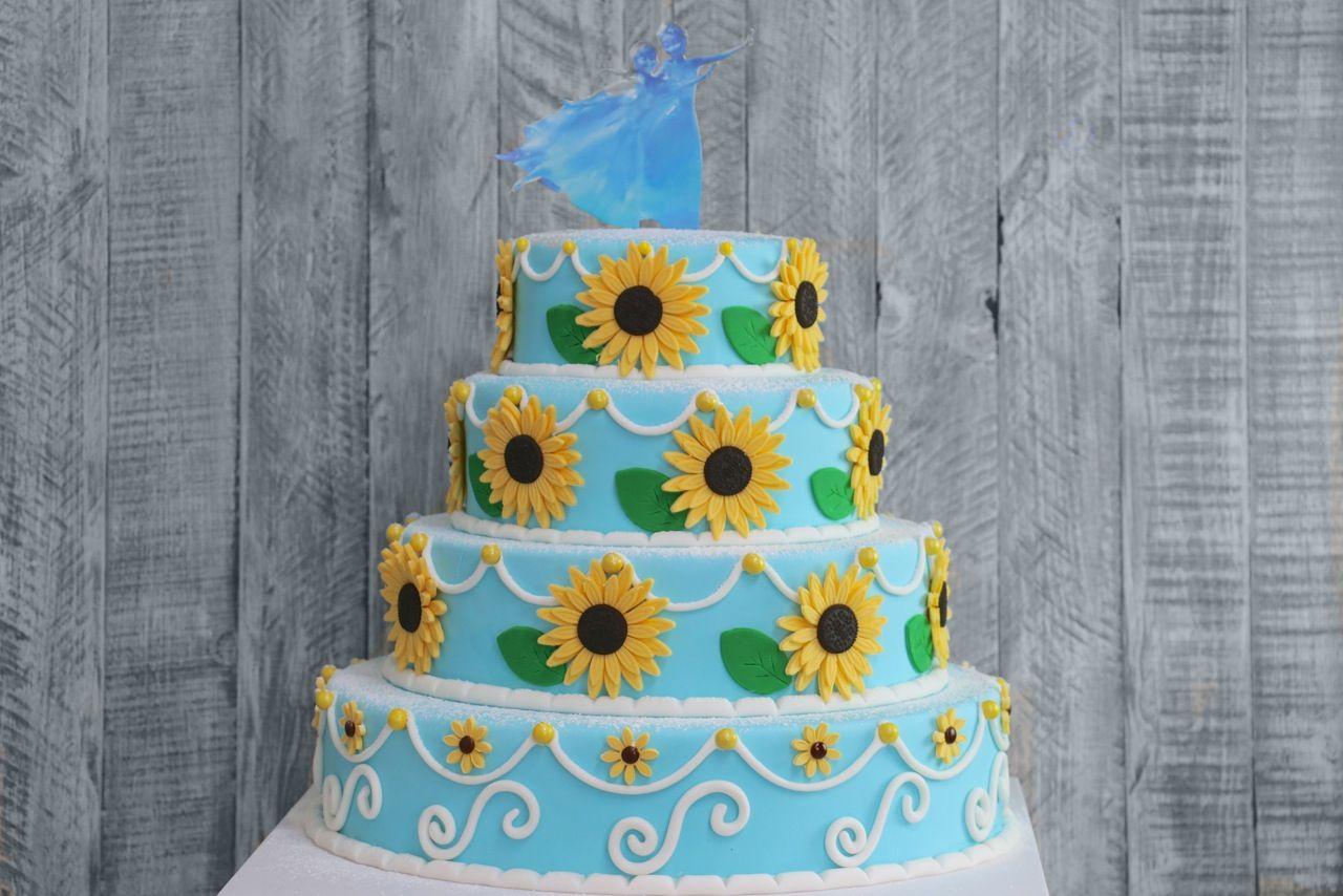 Birthday Cake Ideas Frozen ~ Frozen fever sunflower birthday cake frozen fever pinterest