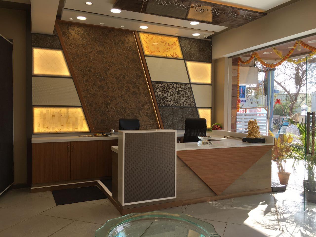 Reception Table Alabaster Backlit Backdrop Charcoal Decor