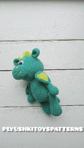 Photo of Häkelanleitung des grünen Baby-Drachen