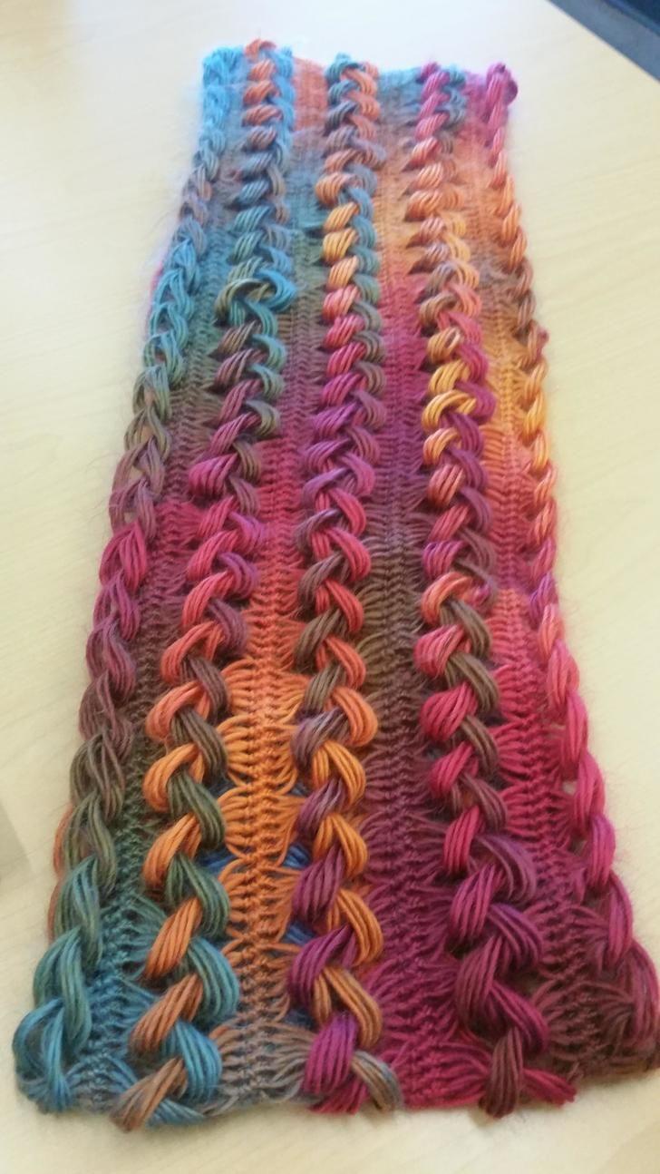 Hairpin lace scarf | Hairpin crochet | Pinterest | Encaje de ...