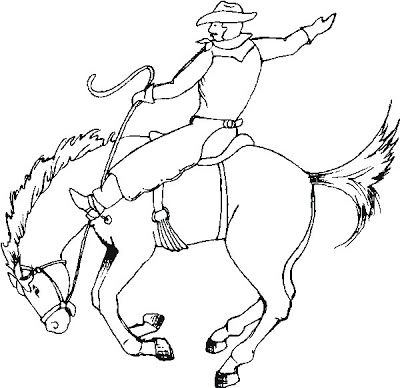 Cowboy Coloring Pages For Kids Cowboy Crafts Horse Coloring