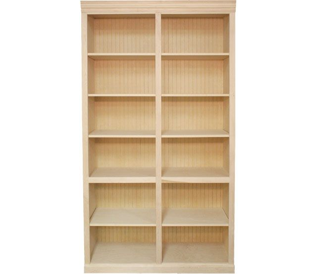 48 X 84 Maple Bookcase This Maple Bookcase Features 4 Adjustable Shelves And 1 Fixed Shelf Our Unfinished Bookcases Bookcase Adjustable Shelving