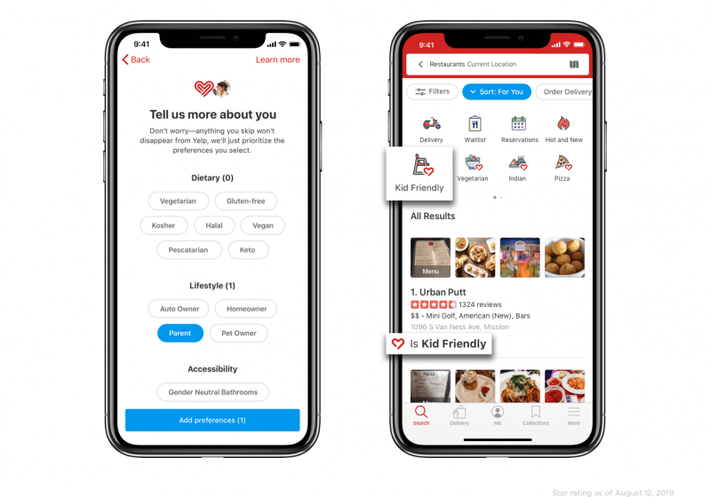 Yelp updates its iOS app to include personalized search