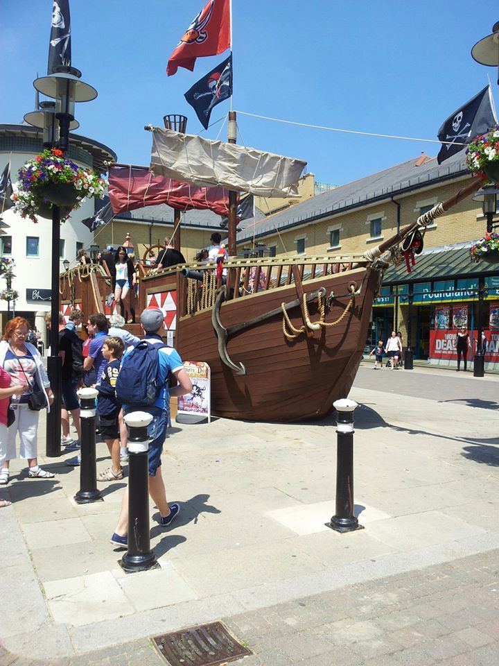 The pirate ship has now 'sailed' from the town centre.