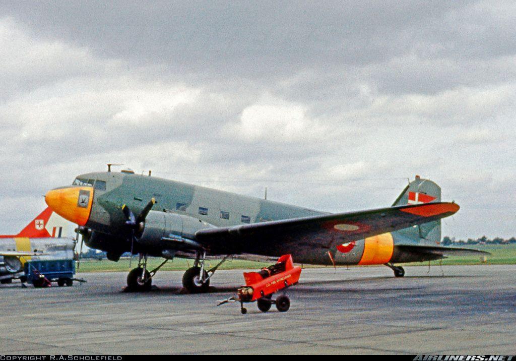 Royal Danish Air Force C-47 displayed in the static line-up at RAF ...