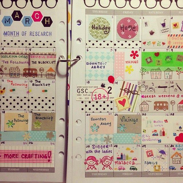 Tq March! #planner #plannerlove #planneraddicts #plannerdecorating   OnInStagram