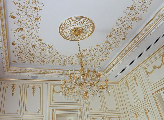Guilded Decorative Plaster Ceiling