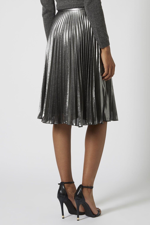 photo 4 of metallic pleated midi skirt stuff to buy