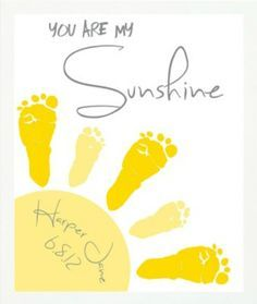 From a piece of jewelry stamped with your newborns print and inch you are my sunshine wall art print footprint sun playroom art sibling art gray yellow nursery art baby footprint art solutioingenieria Choice Image