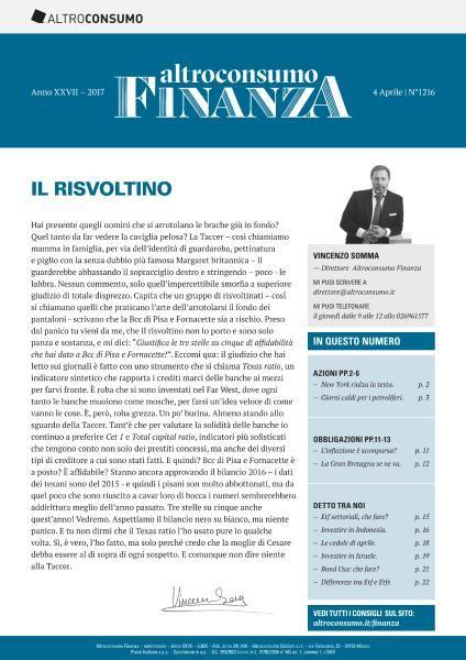 Altroconsumo Finanza N.1216 - 4 Aprile 2017