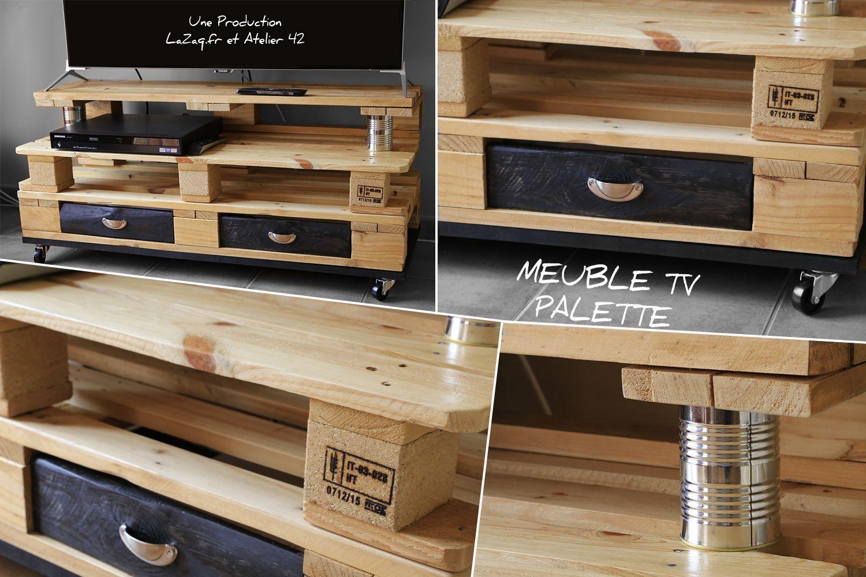 meuble tele sa taille 120 cm x 46 cm ses roues 4 roues 4 tages un tage tiroir un tage pour ranger des dvd ou magazines