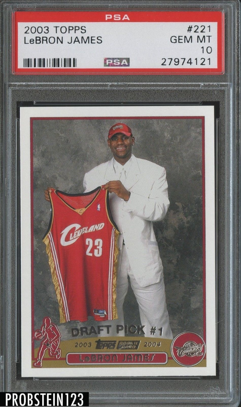 200304 topps 221 lebron james cleveland cavaliers rc