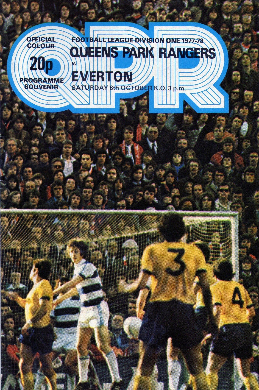 Queens Park Rangers v Everton 1977-78  7be7b7649c0