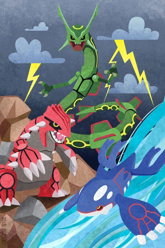 Hoenn Legendaries By M Dugarchomp On Deviantart Pokemon Pokemon Poster Pokemon Pictures