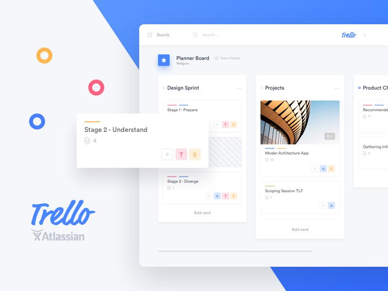 Trello Atlassian Redesign Web design, App design