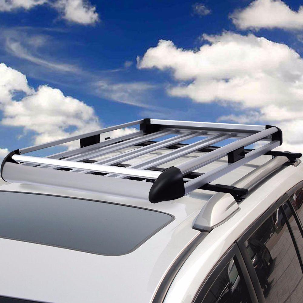 "Details about 50""x38"" Aluminum Car Roof Cargo Carrier"