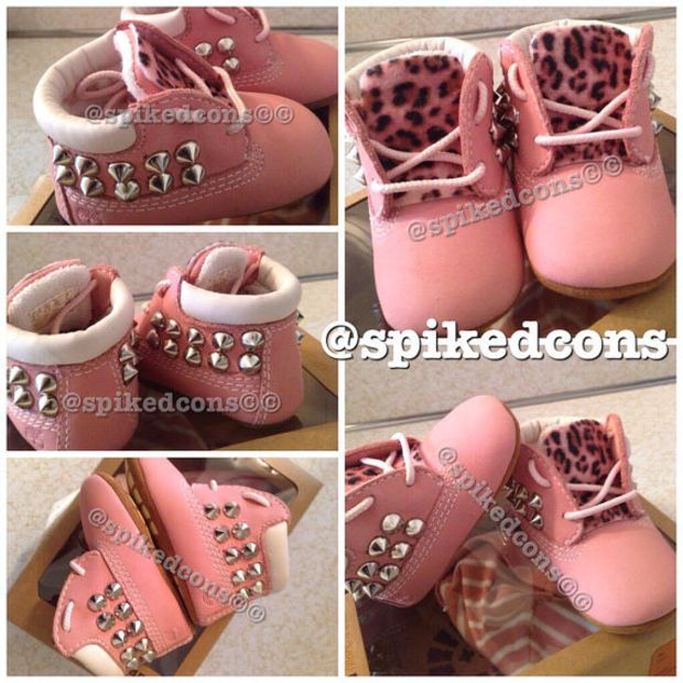 Infant timberlands wheat or pink soft