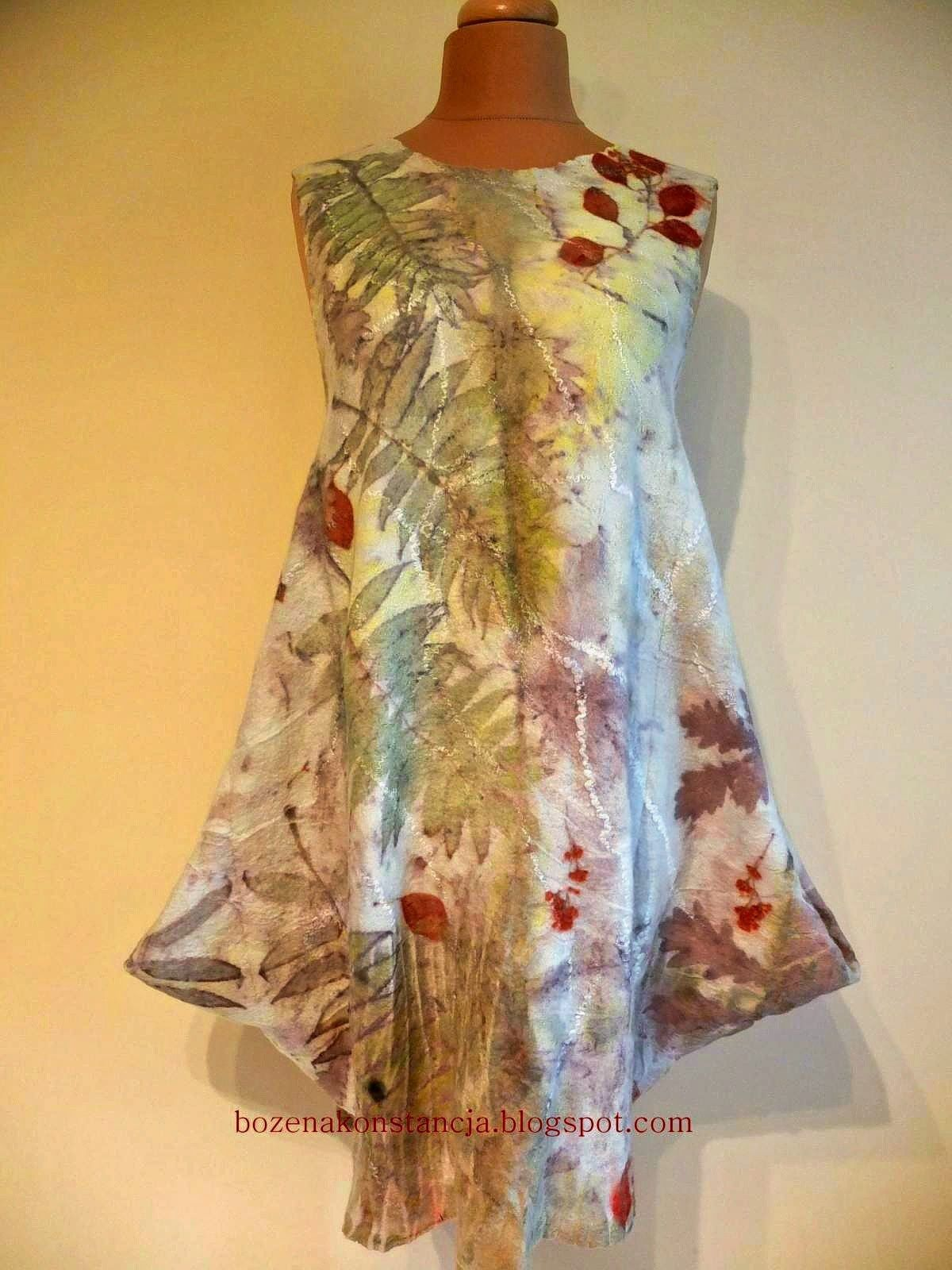 eco printed felt dress | Eco print natural dyeing | How to ...