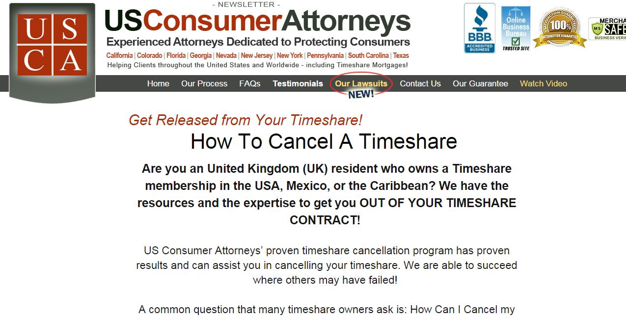 US Consumer Attorneys' proven timeshare cancellation
