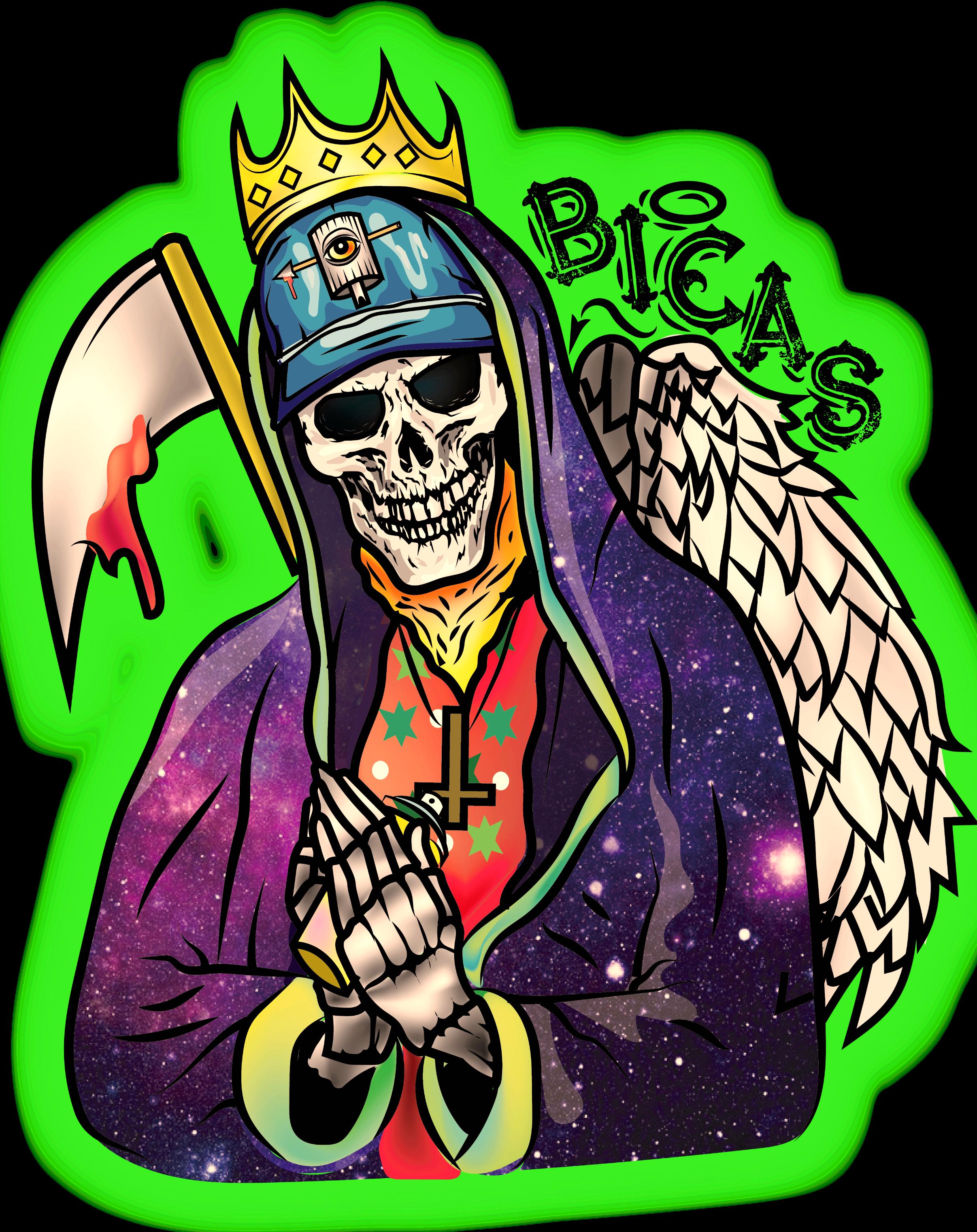 Virgen De Los Muertos Rezar Graffiti King Mistery Angel De La Muerte Oz Angel De La Muerte Graffiti Ilustraciones