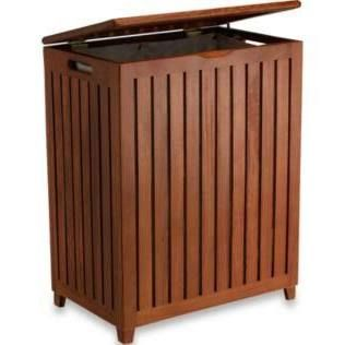 Redmon 5315 Genuine 100 Teak Wood Rectangle Hamper With Bag