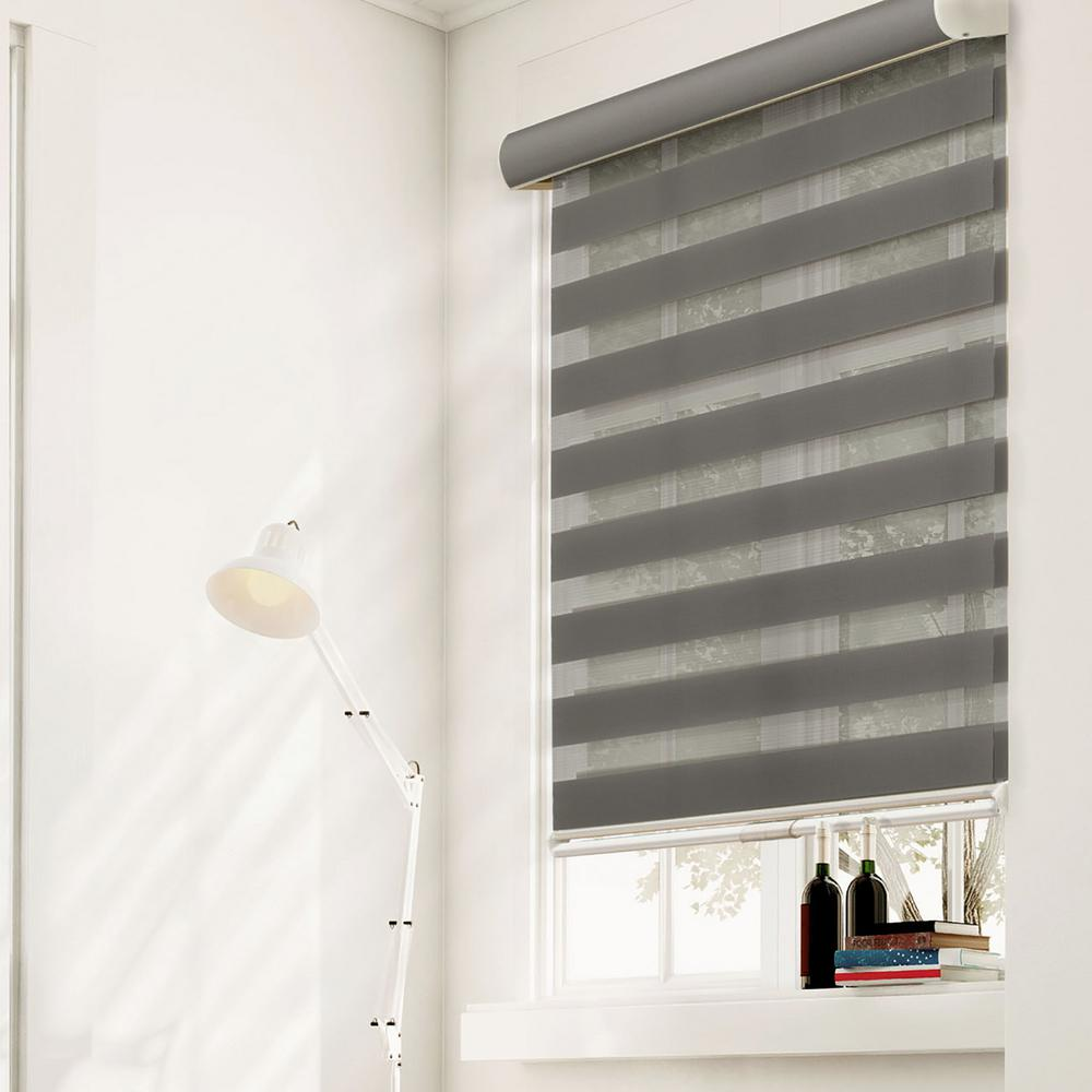 Chicology Zebra Roller Shade Granite Light Filtering Privacy Cordless 100 Polyester Yarn Window Sha Curtains With Blinds Sheer Roller Shades Zebra Shades